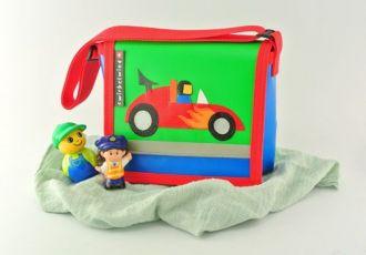 Kleinkind- Tasche mit Rennauto