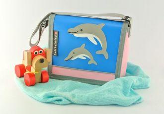 Kleinkind- Tasche mit Delfinen