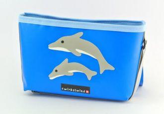 Hochstuhltäschli mit Doppeldelfin