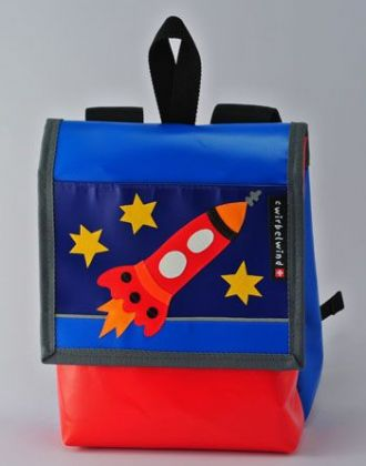 Kindergartenrucksack mit Rakete