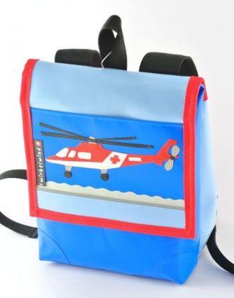 Kindergartenrucksack mit Rettungshelikopter