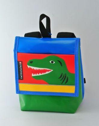 Kindergartenrucksack mit DInosaurierkopf