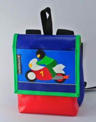 Kindergartenrucksack mit Motorrad