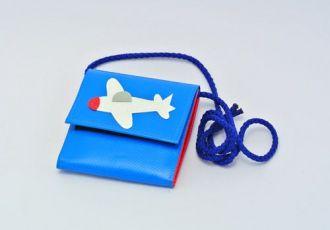 Portemonnaie mit Flugzeug