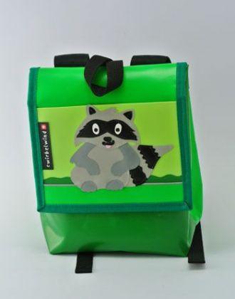 Kindergartenrucksack mit Waschbär