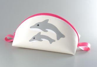 Necessaire mit Doppeldelfin