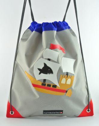Turnsack mit Piratenschiff