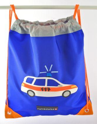 Turnsack mit Polizeiauto