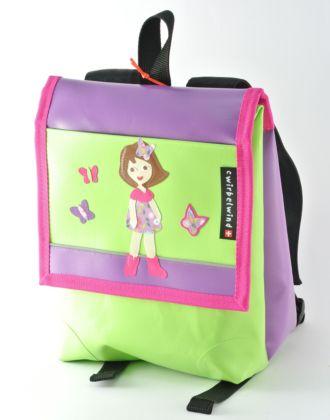 Kindergartentasche mit Mädchen und Schmetterlingen